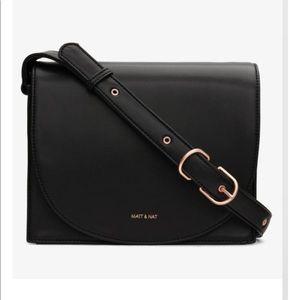 Black And Rose Gold Calla Loom Crossbody Bag